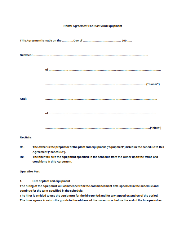 simple agreement template simple agreement template simple rental