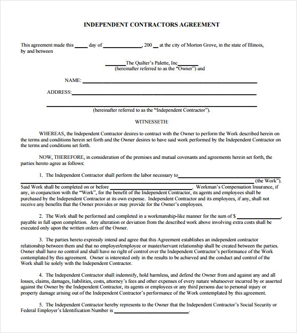 Contract Agreement Form Fill Online, Printable, Fillable, Blank
