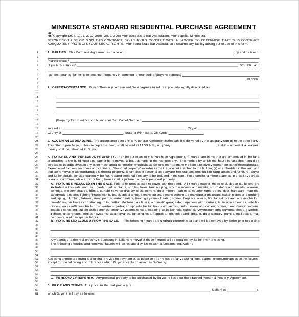 Purchase Agreement Template – 17+ Free Word, PDF Document Download