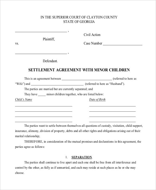 child support and visitation agreement template child custody