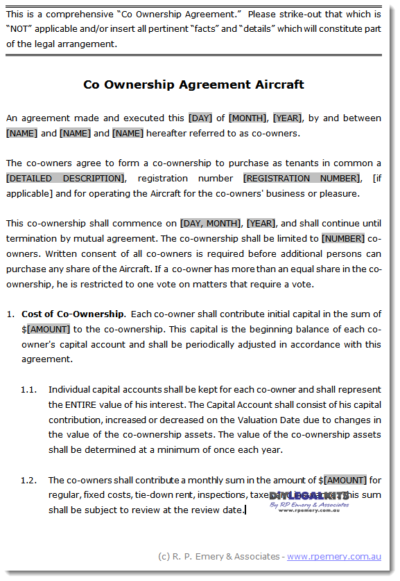 joint ownership agreement template ownership agreement template co