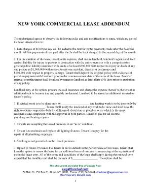 Commercial Sublease Agreement Addendum Nyc Fill Online