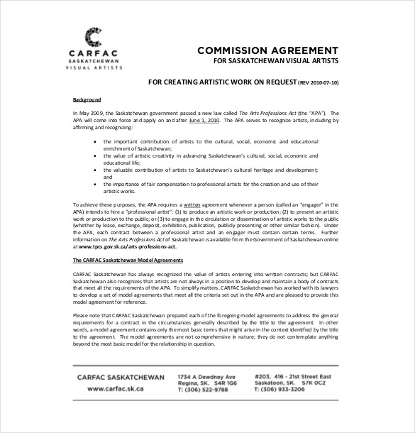 commission sales agreement template free 21 commission agreement