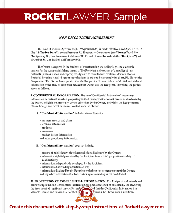 non disclosure agreement texas template non disclosure agreement