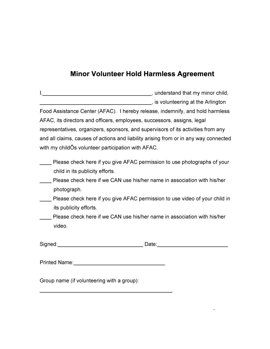 9+ Sample Hold Harmless Agreements | Sample Templates