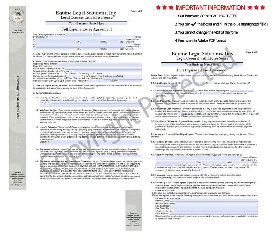 Horse Template Printable | Free Basic Lease Agreement | Country