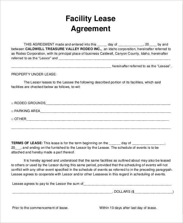 facilities rental agreement template facilities rental agreement