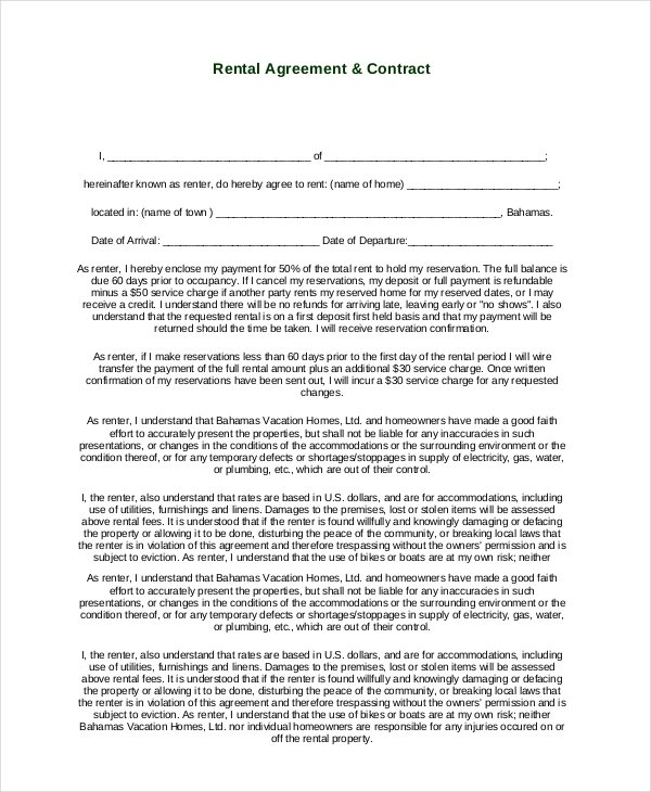 Free Simple Rental Agreement Template Schreibercrimewatch.org