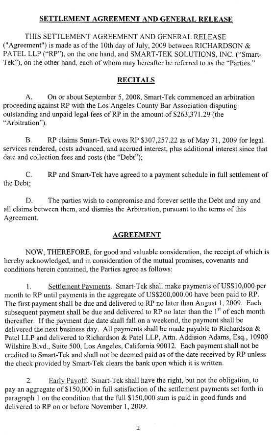 general release agreement template trucept inc form 10 k ex 1010