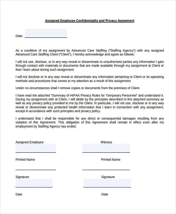 19+ Confidentiality Agreement Form Free Documents in Word, PDF