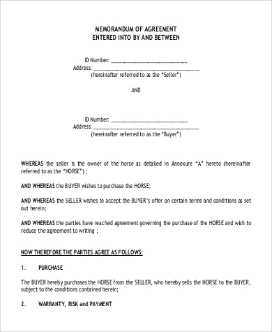 horse sale agreement template 10 sample sales agreements sample