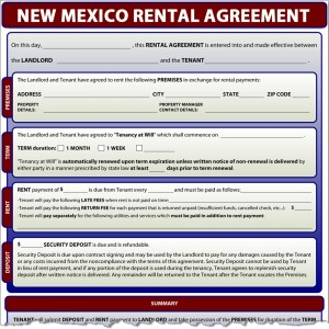 New Mexico Rental Agreement
