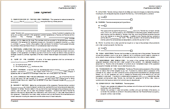 template for word document