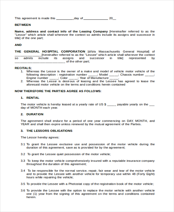 truck lease purchase agreement template sample lease purchase
