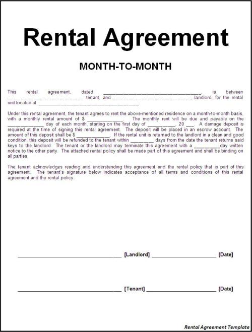 How to Find A Rental Agreement Template | Union Legal Network