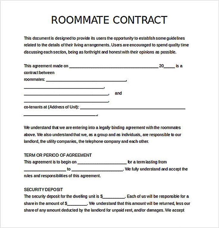 living agreement contract template best 25 roommate agreement