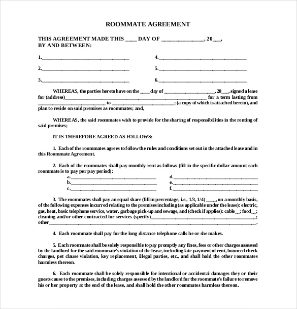 Living Agreement Contract Template Together