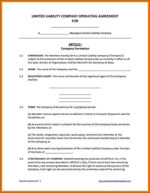 operating agreement for partnership template partnership operating