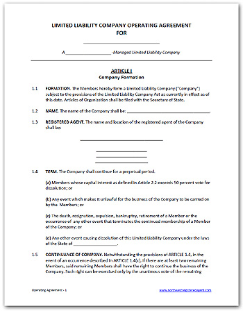 partnership operating agreement template free llc operating