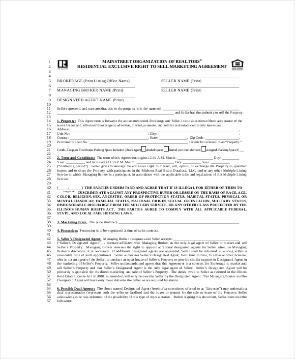 marketing agreement template free 18 marketing agreement template