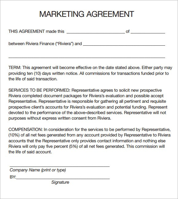 Exclusive marketing rights agreement template exclusive marketing.