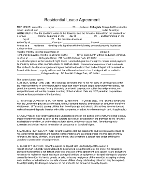 Fillable Md Residential Lease Fill Online, Printable, Fillable