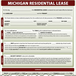 Michigan Residential Lease