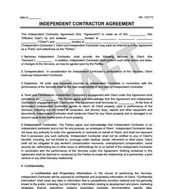 One Year) Independent Contractor's Agreement: Gillroad Associates