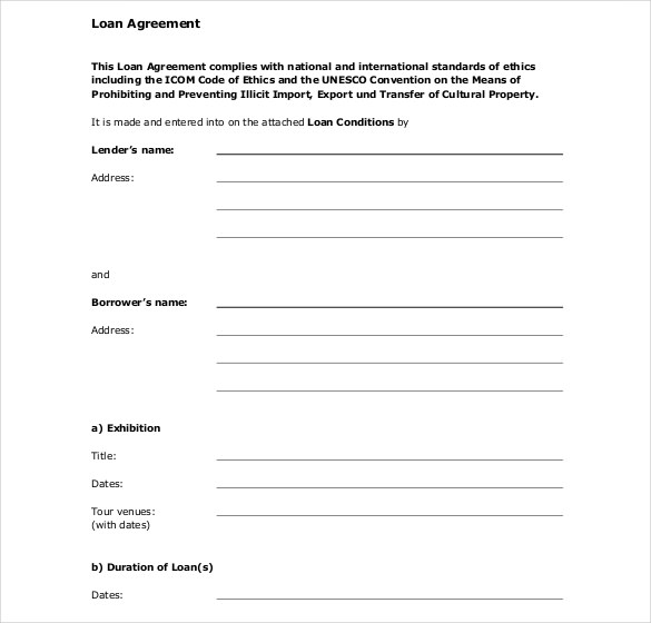 Person Loan Agreement Template Ms Word Gtld World Congress