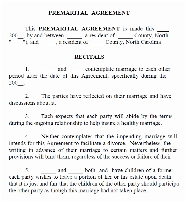 Nc Prenuptial Agreement Template Mikezitompc.com