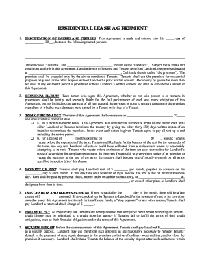 Simple One Page Lease Agreement Fill Online, Printable, Fillable