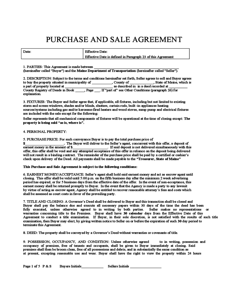 Purchase And Sale Agreement Maine Gtld World Congress