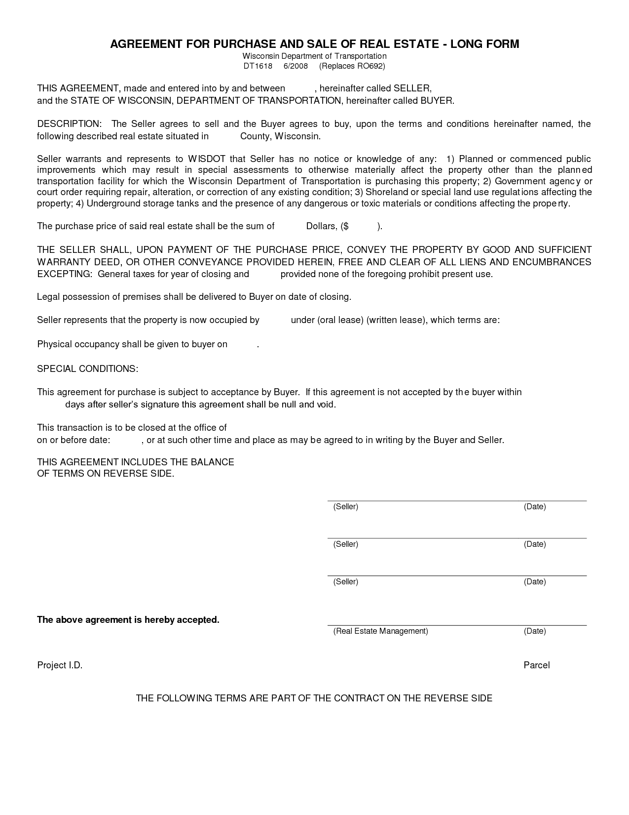 Real Estate Purchase Agreement Form Gtld World Congress