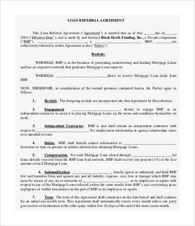 sales referral agreement template referral agreement templates 9
