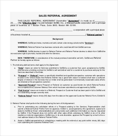Referral Agreement Templates 9+ Free PDF Documents Download