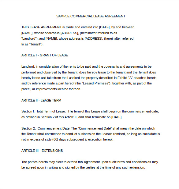 Property Lease Agreement Template Doc Schreibercrimewatch.org