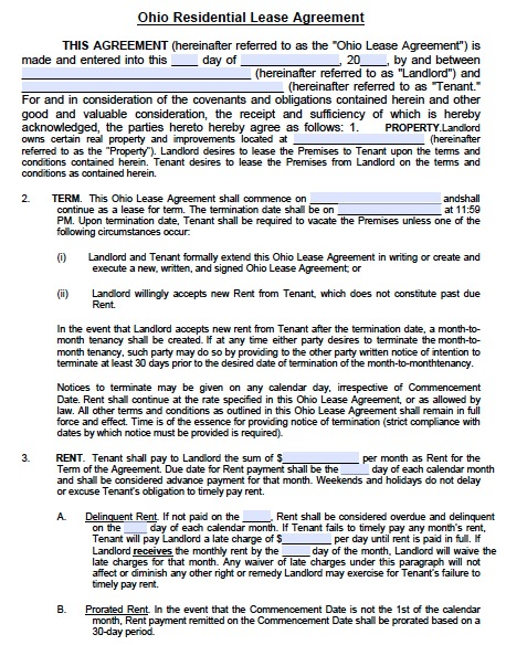 lease agreement template pdf free residential lease agreement