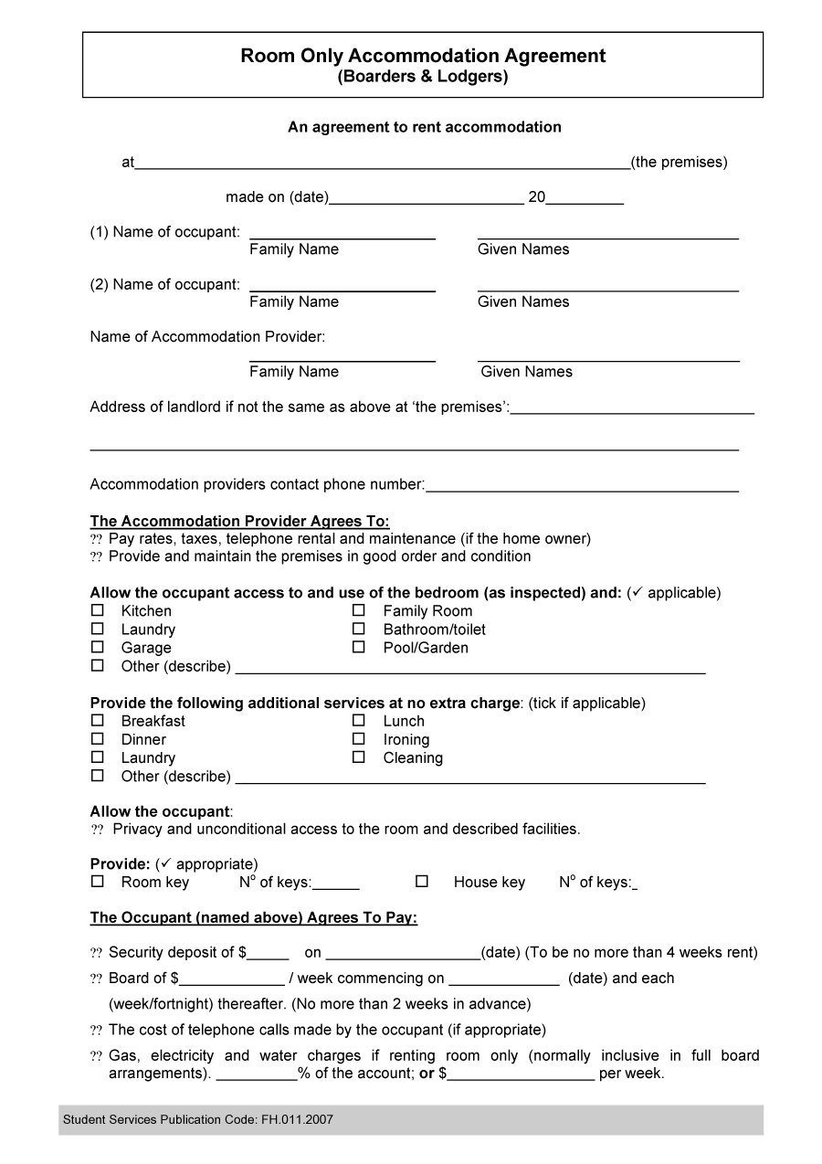 roommate agreement template Akba.katadhin.co