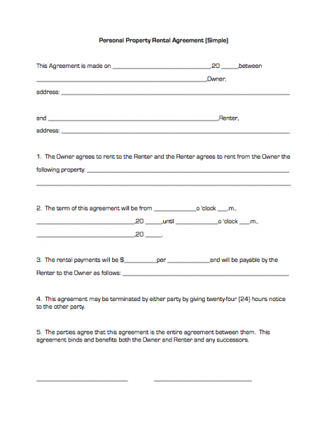 simple rental agreement form free download Akba.katadhin.co