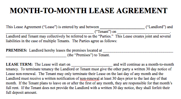 Basic Rental Agreement in a Word Document for Fre