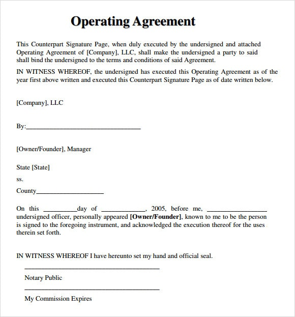 simple operating agreement for llc template simple llc operating