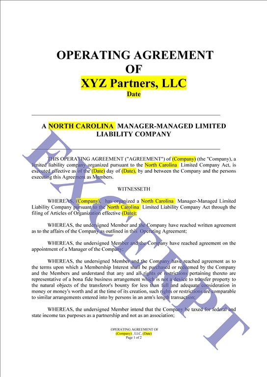 simple operating agreement for llc template llc operating