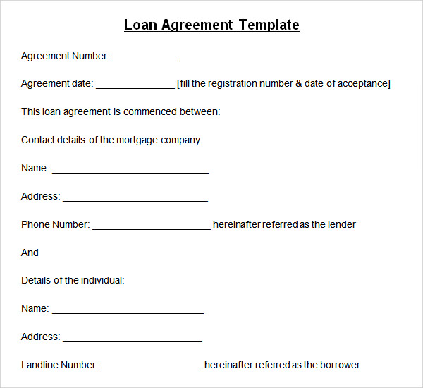 simple loan agreement template south africa loan agreement