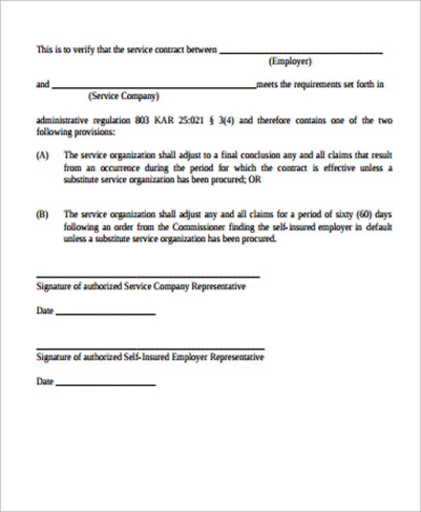 simple service agreement contract template simple service