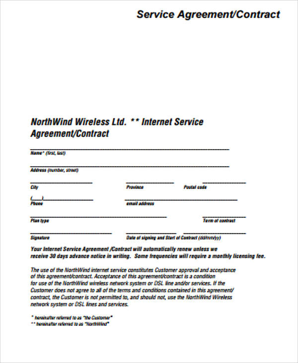 15+ Simple Service Contract Samples | Sample Templates