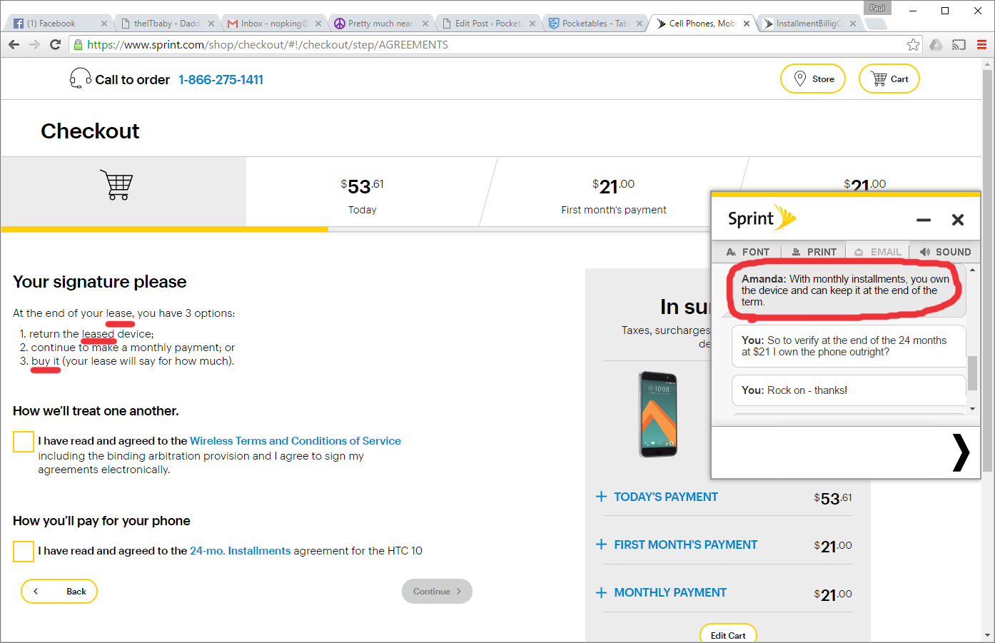 A laughable (attempted) upgrade with Sprint Pocketables