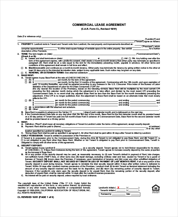 Standard Lease Agreement 12+ Free PDF, Word Documents Download
