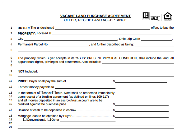 17 Sample Land Purchase Agreement Templates to Download | Sample